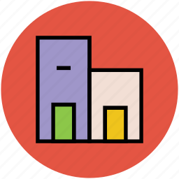 buildings, flats, real estate, residential building icon