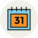 appointment, calendar, date, end month, monthly book, monthly calendar, schedule icon
