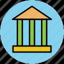 bank, building, court, court building, financial building icon