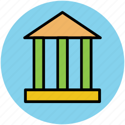 bank, building, court, court building, financial building icon