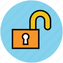 home, lock, open home, unlock home icon