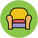 furniture, recliner, settee, single sofa, sofa icon