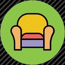 furniture, recliner, settee, single sofa, sofa icon