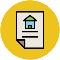 home documentation, property, property documents, property papers icon