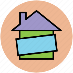 home, percentage sign, property, share, value icon