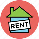 for rent, house for rent, info, real estate, rental house icon