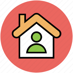 home, house, house owner, man, real estate, user icon