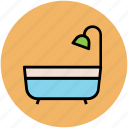 bath tub, bathroom, shower, shower tub, tub, wash tub icon