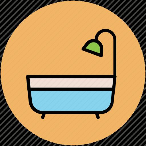 bath tub, bathroom, shower, shower tub, tub, wash tub icon