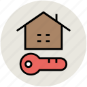house key, key, locked, passkey, secure sign icon