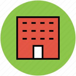 apartments, building, flats, real estate, residential icon
