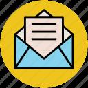 email, envelope, letter, mail, message, open envelope, open letter icon
