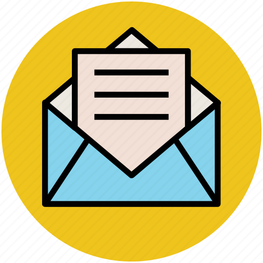 email, envelope, letter, mail, message, open envelope, open letter icon