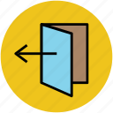 door, door open, house door, logout, logout sign icon
