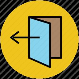 door, door open, house door, logout, logout sign icon