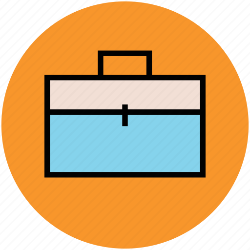 briefcase, office bag, office case, portfolio, satchel icon