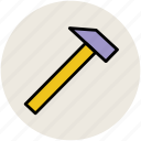 carpenter hammer, claw hammer, hammer, tool, work tool icon
