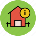 exclamation mark, home, house, real estate, warning sign icon