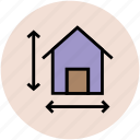home, house, location, real estate, street signs icon