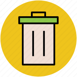 dustbin, garbage container, recycle bin, trash bin, trash can icon