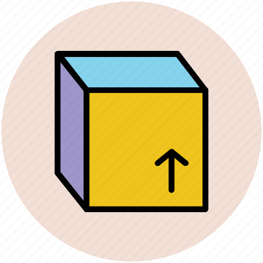 cube, cubic, delivery box, element, hollow cube, package, rubic icon