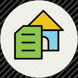 documentation, house, property, property documents icon