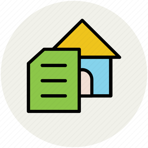 documentation, house, property, property documents icon