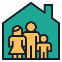 estate, family, home, house, real, rental icon