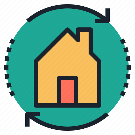 Estate, exchange, home, real, renovate, swap icon - Download on Iconfinder