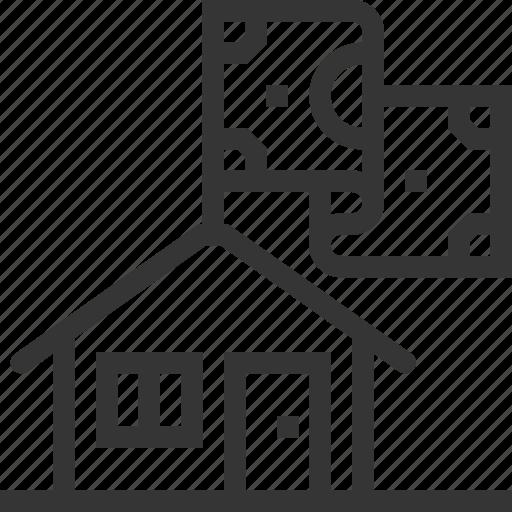 cash, house, money, property, rent, sale icon