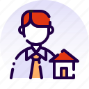 agent, broker, home, house, property, real estate, realtor icon