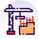 building, construction, crane, home, house, property, real estate icon