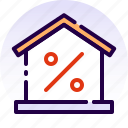 discount, home, house, offer, property, real estate, sale icon