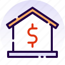 debt, home, house, loan, mortgage, property, real estate icon