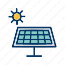 energy, green energy, renewable energy, solar, solar panels, solar power, solar system icon