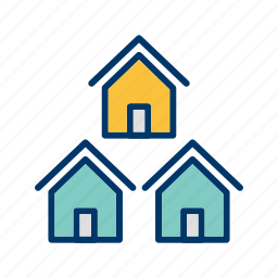 community, community people, home, house, neighborhood houses, neighborhood street, neighbors icon