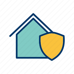 home protection, house, house insurance, house security, house shield, protection, safe house icon
