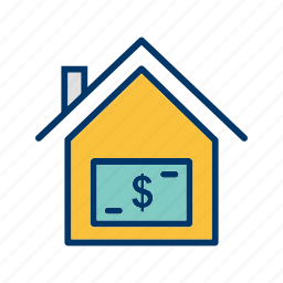 home, house, money house, price, value icon