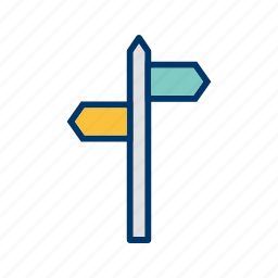 arrows, direction, sign icon