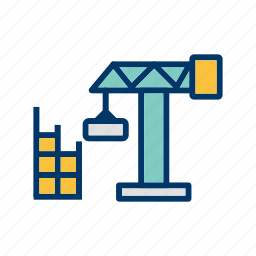 construction, house, site icon