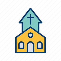 chapel, christian, church, church building icon