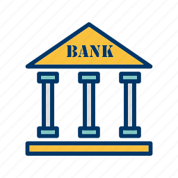 bank, banker, building, finance icon