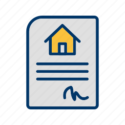 buy home, buy house, contract, house, new home, signing contract icon