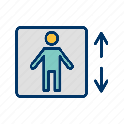 down, elevator, lift, up icon
