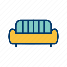 couch, furniture, living room, sofa icon