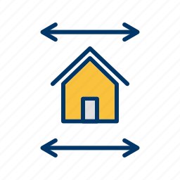 blueprint, house map, house plan, real estate blueprint icon