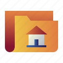 data, file, folder, home, house, property, real estate icon
