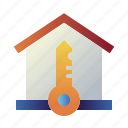 home, house, house key, new home, property, real estate, secure icon