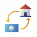 home, house, loan, mortgage, payment, property, real estate icon