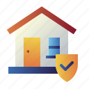 home, home insurance, home protection, house, property, real estate, real estate insurance icon